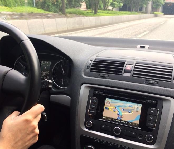 bilkörning med gps