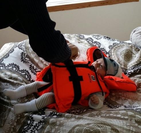 flytväst för bebis
