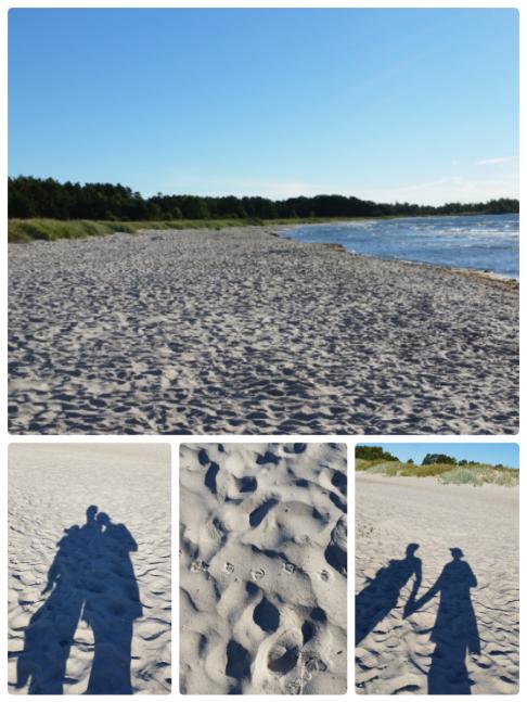 strandpromenad på Öland