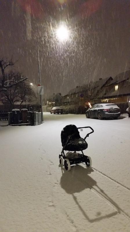 årets första snö